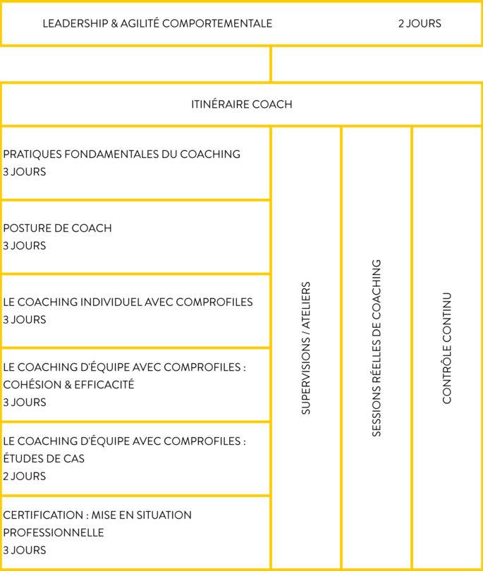 ComProfiles Academy - Schéma Itinéraire Coach
